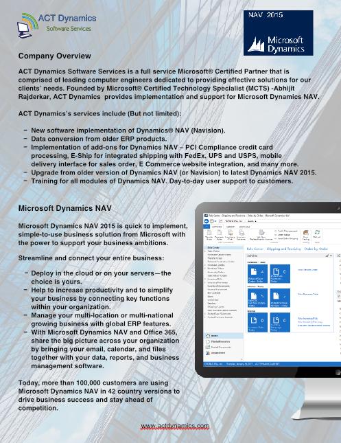 Company Overview Microsoft Dynamics Nav